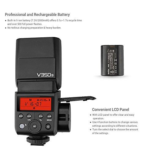Godox-V350S-Flash-da-24-G-Speedlite-Master-Slave-Flash-Flash-TTL-1-8000s-HSS-Batteria-da-2000-mAh-Li-ion-con-caricabatteria-per-Sony