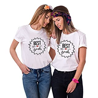 Best Friends T-Shirts für Zwei Damen Mädchen Freundin BFF Freunde Freund  Tshirt mit Aufdruck db7d393040