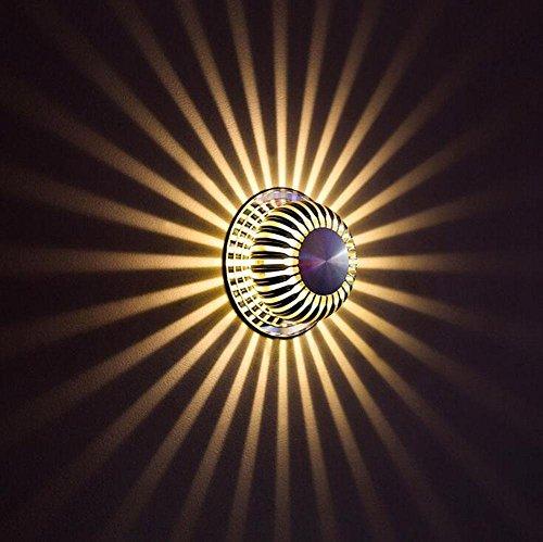 DENG Fleur du Soleil Appliques LED Moderne Abat-Jour personnalité Intérieur Chevet Éclairage Fixation Éclairage, A