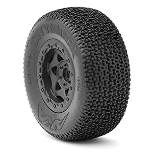 AKA Products 13004SRA Racing City Block SC Soft Pre-Mounted Red Inserts Slash 2WD Tire, Scale 1:10 by AKA Products, Inc.