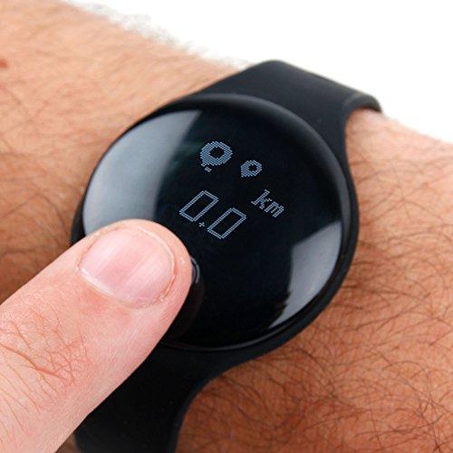 DURAGADGET Reloj/Pulsera de actividad + brazalete deportivo morado para smartphone Sony Xperia E5/Funker W5.5 NOTE PRO
