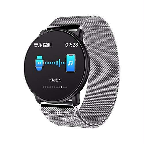 LRWEY Fitness Armband mit Pulsmesser, Smart Watch gehärtetes Glas DIY-Uhr Gesichter Multi-Sportmodus Pulsmesser Männer Frauen Smartwatch, für iOS Android