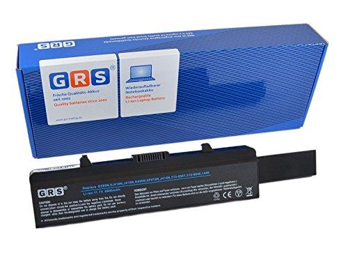 GRS Notebook Akku mit 6600mAh für DELL Inspiron 1750, 1440, ersetzt: K450N, 0F972N, 312-0941, J414N, 312-0940, J415N, Laptop Batterie 6600mAh, 11.1V …