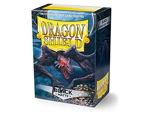 Arcane Tinmen 11002 - Sammelkartenspielzubehör - Dragon Shield Standard Kartenhüllen, 100 Stück, schwarz matt -