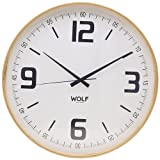 Wolf 334201 21' Round Wall Clock, White