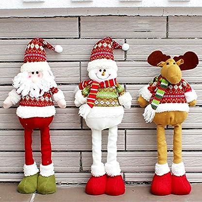 Navidad Peluche, hankyky Lana Tejido Smiley Santa Claus muñeco Nieve Ciervo Christmas Decoration