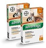 Advantage 40 mg für kleine Katzen und kleine Zierkaninchen,3.2ml