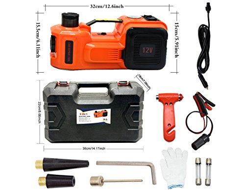 YASI MFG - Kit de Elevador hidráulico Eléctrico DE 3,5 T para Todos los Coches, Furgonetas, Camiones, SUV, 12 V