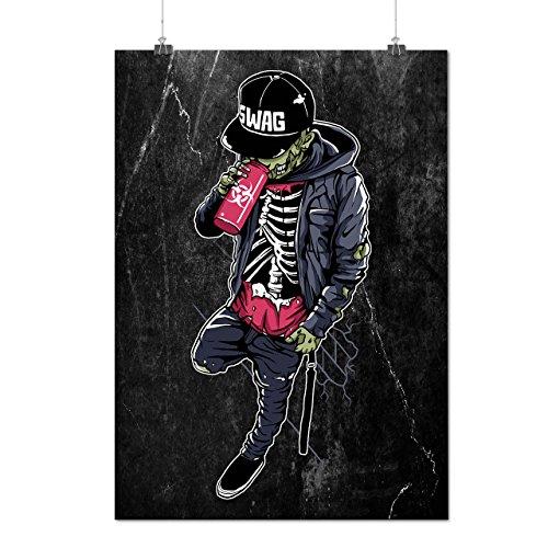 Skelett Beute Mode Mattes/Glänzende Plakat A3 (42cm x 30cm)   Wellcoda (Skelett Sweat Anzug)