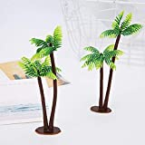 Llzpl 10pcs artificial water grass sand table model 13CM mini coconut tree cake decoration baking props plastic flower fake plant