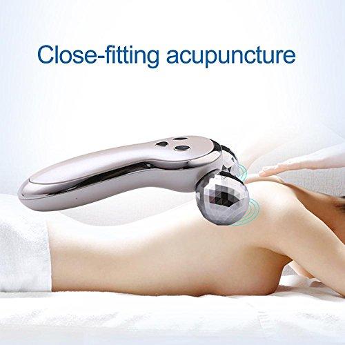 Ljourney 3D Gesicht Massage Roller Mit Mikrostrom Gesicht Massage Roller Facelifting Instrument Aufladen Akupunktur Facelifting Instrument V förmigen Massagegerät Massageroller Für Gesicht Körper - 2
