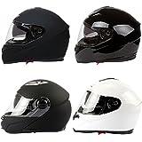 Mach1 Integralhelm Helm Motorradhelm Flip up Klapphelm mit Integrierter Sonnenblende Größe XS bis XXL