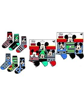 6 pares de calcetines algodon 6 modelos diferentes varios colores diseño Mickey (Disney) 23-26, 27-30 y 31-34...