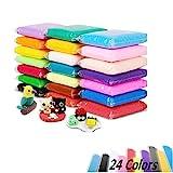 Luclay Polimero di Argilla 24 Colori Forno cuocere Fai da Te Argilla Colorata Morbido Sicuro e Non tossico Craft Craft Modellato Fluffy Floam Slime
