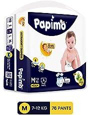 Papimo Diaper Pant, Medium, Blue, 76 Count