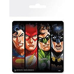 1art1® Liga De La Justicia - Faces, DC Comics Posavasos (9 x 9cm)