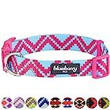Blueberry Pet Ethno Muster Inspiriertes Atemberaubendes Zigzag Hundehalsband, Cerise-Pink, M, Hals 37cm-50cm, Verstellbare Halsbänder für Hunde