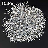 Astonish 2017 Neue White Opal Farbe Kristall Kristall zurück Flach Rhinestones Beads Scrapbooking Crafts Schmuck und Zubehör: 1440pcs SS10