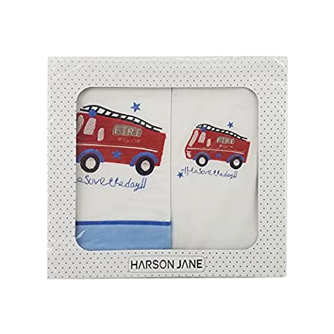 Harson&Jane Premium Quality Cotton 3 Pcs Bedding Set Bed Sheet Pillowcase and Bed enterpris for Baby Newborn