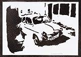 Poster Auto SEAT 600 Handmade Graffiti Street Art - Artwork