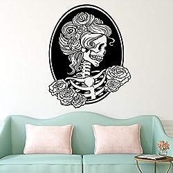 Roiper Halloween Sticker Mural Salon Chambre Arrière-Plan De Haute Qualité Halloween Squelette Fond Décoré Salon Chambre Mur