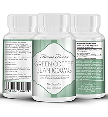 Green Coffee Bean weight loss supplement 90 Capsules 1000mg by Volt Retail