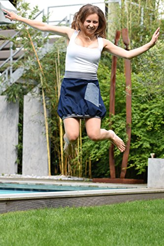Minirock PAULIZ – blauer Damen Ballon-Minirock aus Jeans - 5