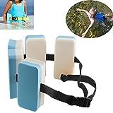 Househome - Cinturón de natación, ajustable con instrucciones de natación, cinturón de cintura de espuma EVA para piscina, flotador, cinturón flotante para entrenamiento de natación para niños.