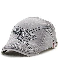 40dd54ffaae Tioamy Newsboy Cap Cotton Flat Cap Cabbie Cap Outdoor Fashionable Unisex  Adjustable Duckbill Hat Newsboy Hat