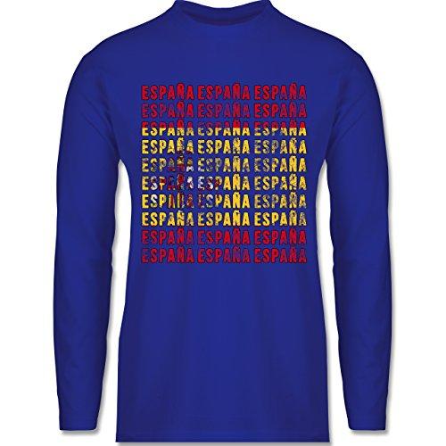 Shirtracer Fußball-WM 2018 - Russland - Espana Vintage Typo - Herren  Langarmshirt Royalblau