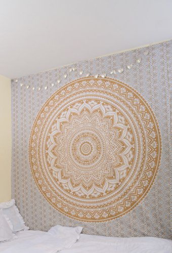 rawyalcrafts-original-gold-ombre-tapestry-hippie-bohemian-intricate-gypsy-indian-magical-thinking-ta