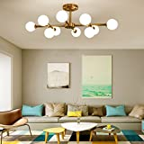 Magic Bean Kronleuchter Moderne Deckenleuchte mit Beleuchtung Wohnzimmer Cafe Restaurant Kronleuchter ( Farbe : 10 head )