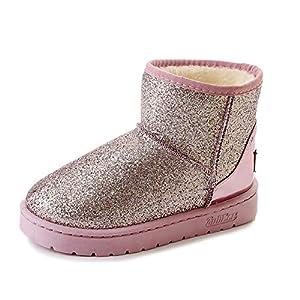 BYUYAN Stiefel Das Mädchen Winter Plus Baumwolle Studenten und vielseitige Snow Boots Kurze Zylinder flach Baumwolle Schuhe warme Stiefel
