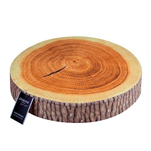 Sandini Sitzkissen Holz, Obst, Gemüse – Für Garten/Wohnräume – 38 x 6 cm