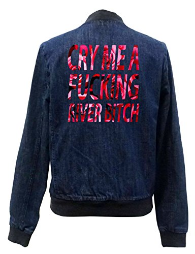 Cry Me A Fucking River Bitch Roses Jeans Bomberjacke Certified Freak-M
