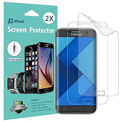JETech Film de Protection d'écran pour Galaxy S7 Edge en TPE, Lot de 2