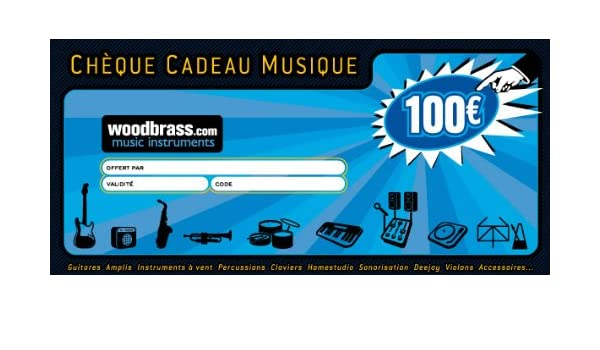 Carte Cadeau Woodbrass.Woodbrass Club Cheque Cadeau 100 Euros Pour Faire Plaisir
