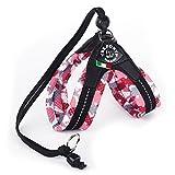 treponti Harnais Easy Fit Soft Mesh de camouflage rose avec cordon de serrage 42–27cm jusqu'à env. .7kg
