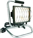 Smartwares 10.037.00 Luz de Trabajo halógeno Exterior 400W portátil con Cable y Enchufe HL400SA, Plateado