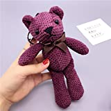 #4: Baybee Premium Bow Fabric Teddy Bear Key Chain/ Sleutelhanger Key Ring/ Bag Pendant Soft Toy
