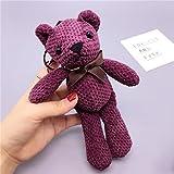 #6: Baybee Premium Bow Fabric Teddy Bear Key Chain/ Sleutelhanger Key Ring/ Bag Pendant Soft Toy