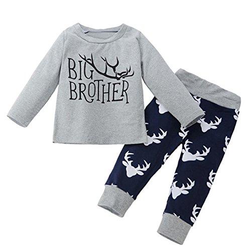 Big-brother-baby-strampelanzug (chshe Baby Jungen, 12months-4Jahre alt 2pc Outfits für Neugeborene kleinkind kleinkinder Baumwoll-Mischgewebe
