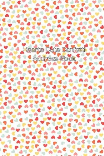 Hearts Cute Confetti Address Book (Address Books)