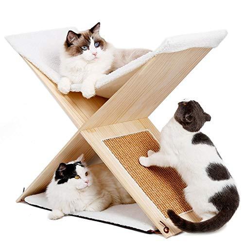 ZZX Poste rascador para Gatos de sisal con Juguete