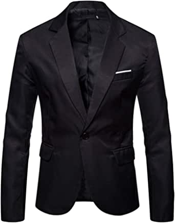 YOUTHUP Mens Casual Blazer Slim Fit Formal Business Suit Jackets Classic Chic Blazers Coat