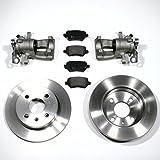 2 x Bremssattel/Bremszange für links + rechts + Bremsscheiben + Bremsbeläge hinten/Hinterachse