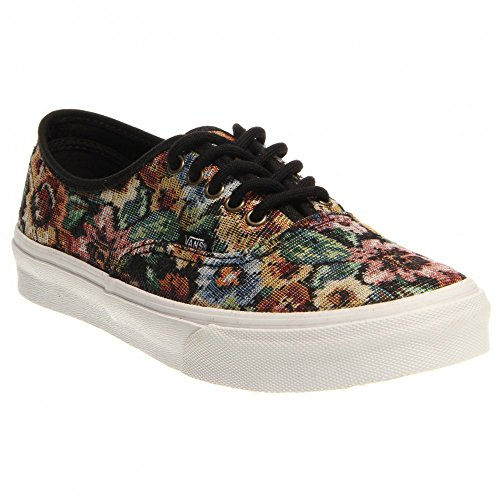 Vans - Unisex Authentic Slim Shoes in (Tapestry Floral) Black (Tapestry Floral) Black