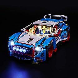 LIGHTAILING Jeu De Lumières pour (Technic La Voiture De Rallye) Modèle en Blocs De Construction - Kit De Lumière A LED Compatible avec Lego 42077(Ne Figurant Pas sur Le Modèle)