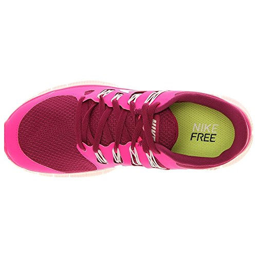 Nike Free 5.0+ 580591-002 Damen Laufschuhe Rot (Raspberry Red/Summit White/Pink Foil)