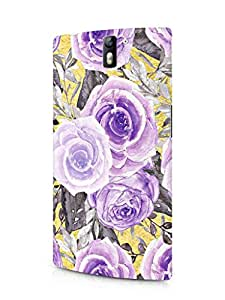 Cover Affair Floral/Flowers Printed Designer Slim Light Weight Back Cover Case for One Plus One